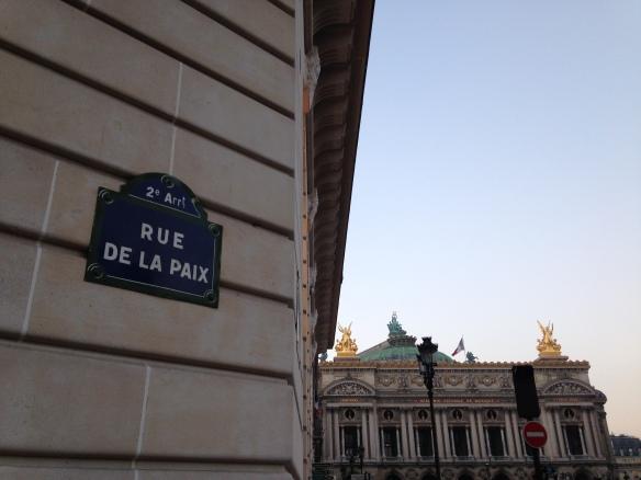 La Rue de la Paix y al fondo la Ópera Garnier. Foto: María A. Mejía